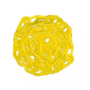 زنجیر پلاستیکی راه بند زرد رنگ ۱۰۰ متری OIZP-002