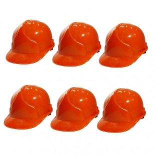 کلاه ایمنی ۶ عددی طرح JSP رنگ نارنجی OIKI-004