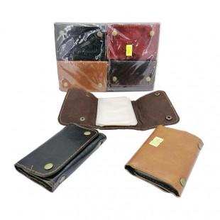 کیف و جلد عابر بانک ۱۲ برگ دکمه دار طرح چرم ۶ عددی OHKF-003