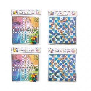 بازی منچ و مار و پله پارچه ای شیما ۴ عددی OHBF-001