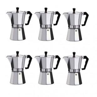 قهوه جوش و اسپرسو ساز دستی ۲ کاپ ۶ عددی OHGJ-001