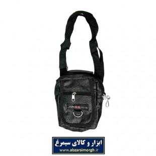 کیف دوشی دو زیپ دسته دار طرح چرم HKF-004