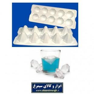 قالب یخ و ژله طرح الماس پلاستیکی HGY-003