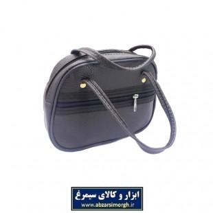 کیف دسته دار ۲ زیپ سایز متوسط کربلایی HKF-006