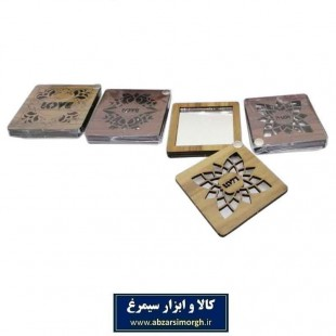 آینه چوبی سنتی ۴ گوش ۷ سانت ZAY-001
