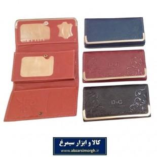 کیف پول زنانه لب فلزی D & G دی اند جی، جای عکس دار HKF-024