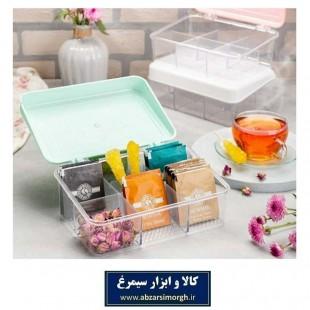 جعبه تی بگ و جای دمنوش پلاستیکی HOR-014