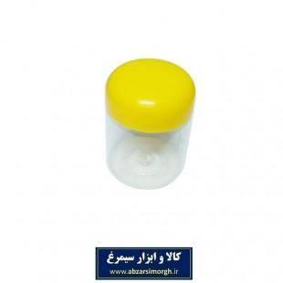 ظرف پلاستیکی درب دار جار ۱۳۰ سی سی ۱۰ عددی PZJ-001