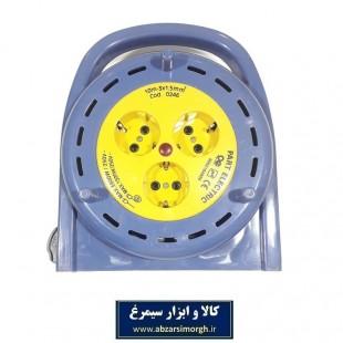 رابط برق 3 خانه 10 متری (قرقره) پارت الکتریک مدل PE535 کد: ESS-006