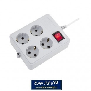 رابط 4 خانه ارت دار پارت الکتریک مدل نیک PE317 مربع ESS-010
