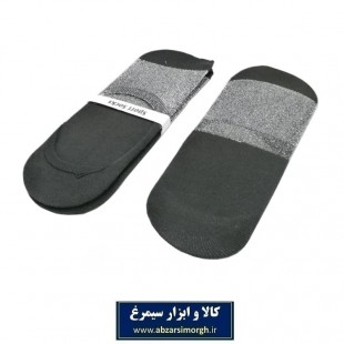 جوراب زنانه کالج لمه مشکی نقره ای CJZ-003