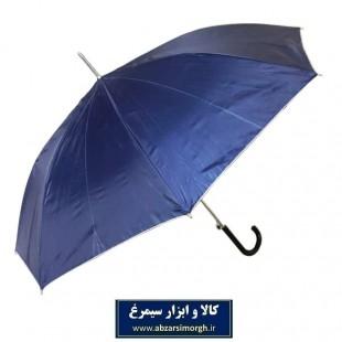 چتر زنانه رنگی داخل نقره ای دسته عصایی ۸ فنر HCH-013