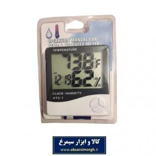 دماسنج، رطوبت سنج و ساعت دیجیتال HTC-01 کد ADM-002