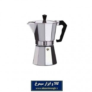 موکاپات یا قهوه جوش و اسپرسوساز روگازی آلومینیوم ۳ کاپ HGJ-004