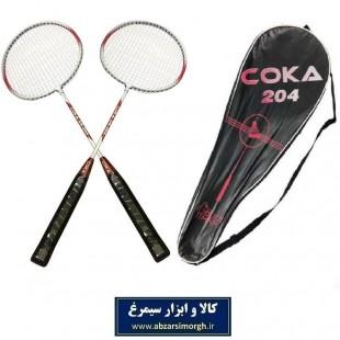راکت بدمینتون Coca کوکا مدل ۲۰۴ کیف دار ۲ عددی VBM-005