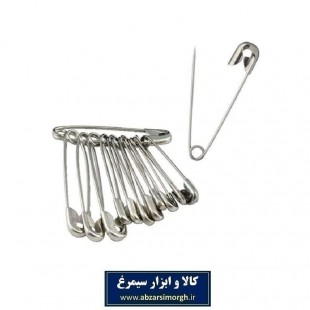 سنجاق قفلی سایز ۴ بسته ۱۲ عددی HSJ-004
