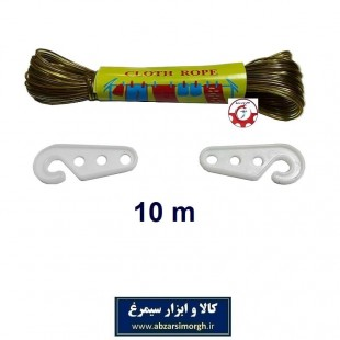 طناب رخت و لباس سیمی روکش دار با طول ۱۰ متر HTS-002