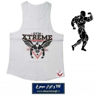 رکابی بدنسازی مردانه Gym Xtreme اکستریم جیم رنگ سفید VLV-002B