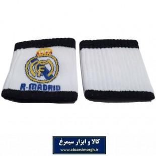 مچ بند ورزشی باشگاه فوتبال Real Madrid F.C رئال مادرید ۲ عددی VMB-019