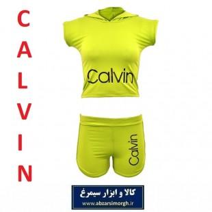 ست نیم تنه و شلوارک ورزشی زنانه Calvin کلوین فری سایز + هدیه سیمرغ VLV-004