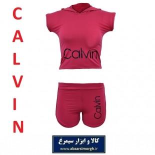 نیم تنه و شلوارک ورزشی زنانه Calvin کلوین فری سایز رنگ سرخابی