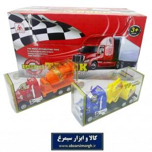 اسباب بازی کامیون بتن ریز و لودر دار طول ۱۶ سانت TMT-015