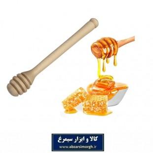 قاشق عسل چوبی معمولی قد ۱۴ سانت فروش تک و تعداد HGA-009