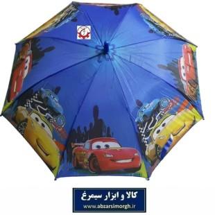 چتر پسرانه ماشین های مک کوئین McQueen فنر مشکی HCH-014