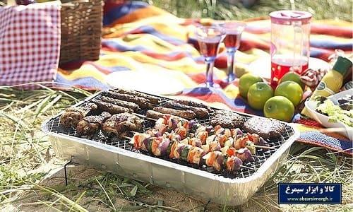 منقل کباب و باربیکیو Barbecue سفری آماده آراد و آرسام