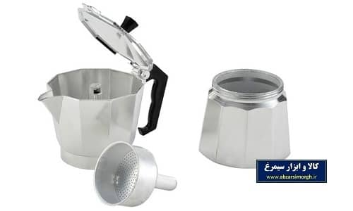 موکاپات یا قهوه جوش و اسپرسوساز رو گازی آلومینیوم ۱ کاپ
