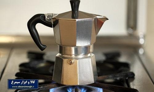 موکاپات یا قهوه جوش و اسپرسوساز روگازی آلومینیوم ۲ کاپ