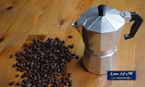 موکا پات یا قهوه جوش و اسپرسو ساز رو گازی آلومینیوم ۱ کاپ
