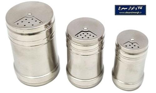 ست نمکدان و فلفل پاش استیل ۳ تایی Salt & Pepper Shaker