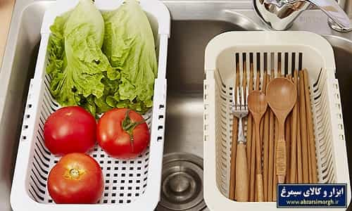 آبکش و سبد کشویی سینک ظرفشویی