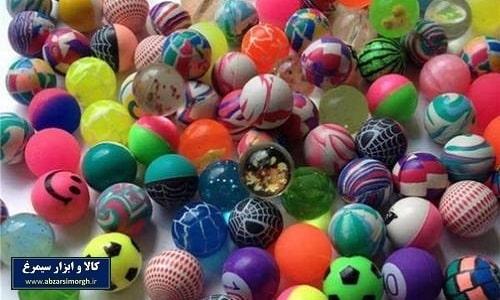 توپ شیطونک اسباب بازی مدل ساده ژله ای و رنگی kids balls