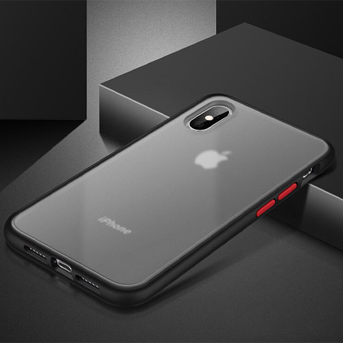 Hybrid Simple Matte Bumper Phone Case For Apple iPhone XS Max
