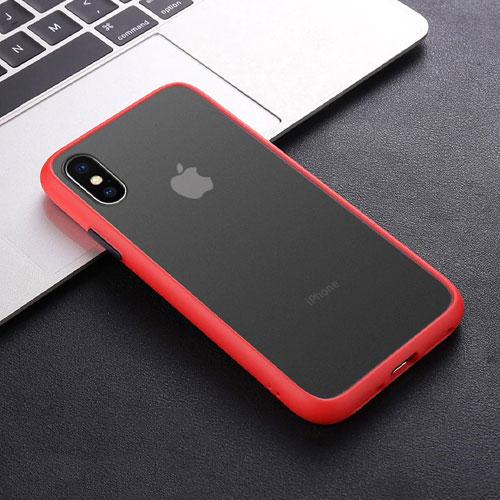 Hybrid Simple Matte Bumper Phone Case For Apple iPhone XS