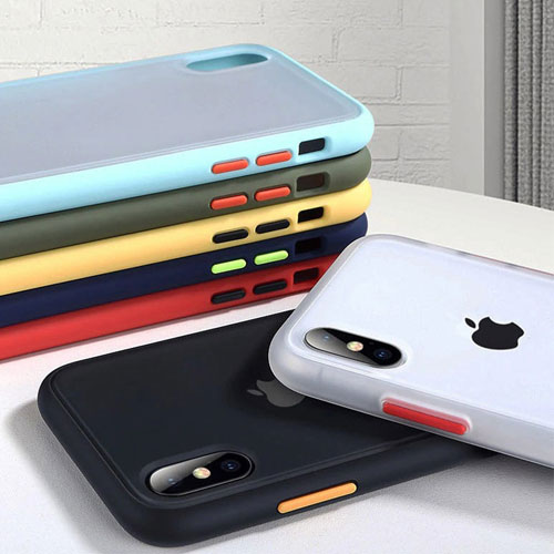 Hybrid Simple Matte Bumper Phone Case For Apple iPhone X