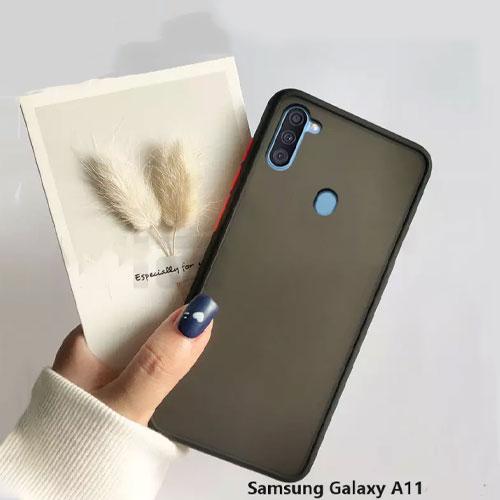 Hybrid Simple Matte Bumper Phone Case For Samsung Galaxy A11