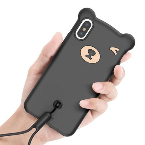 Apple iPhone XS Baseus Bear Silicone Case