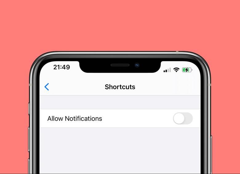 آموزش غیرفعال کردن اعلانهای برنامه Shortcuts در آیفون