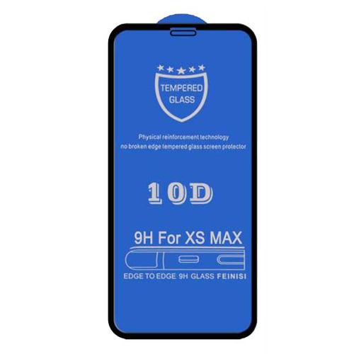 گلس تمام چسب گوشی اپل iPhone XS مدل 10D