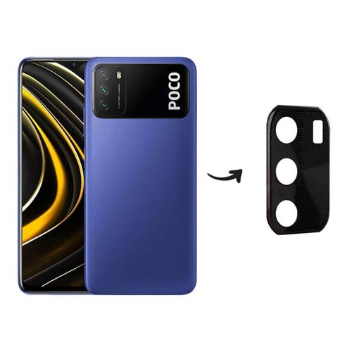 محافظ لنز فلزی دوربین موبایل شیائومی Poco M3 Metal Lens