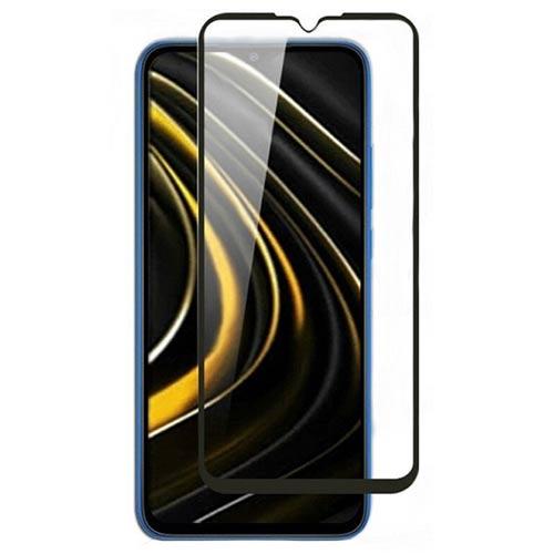 محافظ صفحه شیشه ای تمام صفحه تمام چسب شیائومی Poco M3 9D Glass