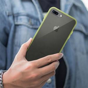 Hybrid Simple Matte Bumper Phone Case For iPhone 7 Plus