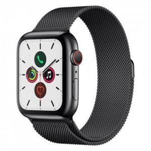 Apple Watch Series 5 44mm Stainless Steel Case with Milanese Loop