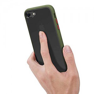 Hybrid Simple Matte Bumper Phone Case For iPhone 6 Plus