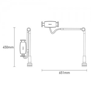 Baseus SULR-B0S Otaku Life Rotary Adjustment Lazy mobile Phone Holder