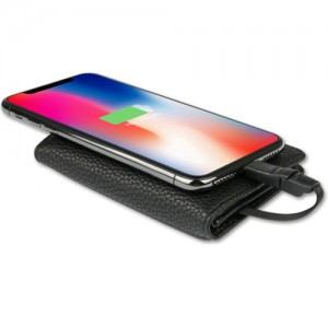 Zhuse ZS-PB-013 4000mAh Power Bank And Card Holder 2in1 Leather Bag