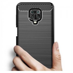 قاب محافظ ژله ای شیائومی Redmi Note 9 Pro Rugged Armor Fiber Carbon